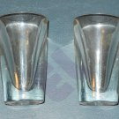 Hazel Atlas clear oversized 2oz shot glasses - set of 2