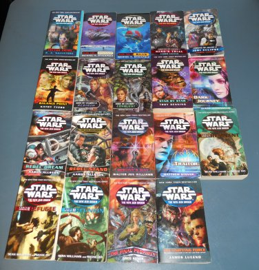 Star Wars NJO New Jedi Order books book novel novels lot series 19  1st edition paperbacks (b)