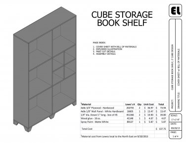 Storage Cube Bookshelf Book Shelf building plans blueprints DIY Get Them for Free