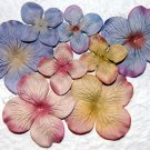 Beach Sand Prima Quick Picks Hydrangeas, Set of 10 Pink, Green, Purple Blue Mulberry Paper Flowers