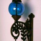 Cast Iron Bell W/ BLUE Glass Gazing Ball