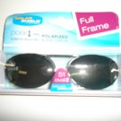 Sunglasses  51 oval 2 Polarized Solar Shield  Clip Ons. NEW