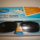Sunglasses 51 Rec  B  Polarized Solar Shield  Clip Ons. NEW