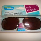 Sunglasses 52 Rec 1 Polarized Solar Shield  Full Frame Clip Ons.  NEW