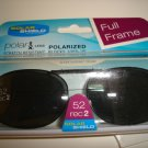 Sunglasses 52 Rec  2  Polarized Solar Shield  Full Frame Clip Ons. NEW