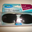 Sunglasses 52 Rec  5 Polarized Solar Shield  Full Frame Clip Ons. NEW