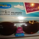 Sunglasses 48 oval 2 Polarized Solar Shield  Clip Ons. NEW