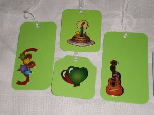 BIRTHDAY THEMED GIFT TAGS