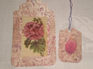 NATURE THEMED SCRAPBOOKING/GIFT TAGS