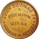 Spectacularly Double Struck NY010G-1a, John Thomas, Albany, New York, Civil War Token