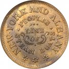 NY630BD-1a - People's Line of Steamboats - ANACS MS60