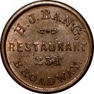 ***Sale Pending***NY630D-1a – H.J.Bang, New York, Civil War Token
