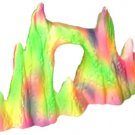 Ceramic Ornament - Fluorescent Rock Pinnacle