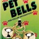 Cat Gold Pet Bells 3 Per Card