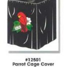 Cage Cover - Black W/red Parrot (fits #121,122,123,125 Cages)