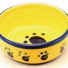 Designer Stoneware Classic Paw Print Cat Dish 5