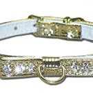 3/8 Majestic Jeweled Collar Bow & Center D Ring