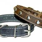 "1"" RG Leather collar stitch/ studded"