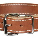 Leather working dog collar  2-ply