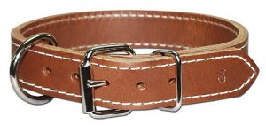 1 2-ply leather collar