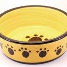 Designer Stoneware Classic Paw Print Dog Dish 6