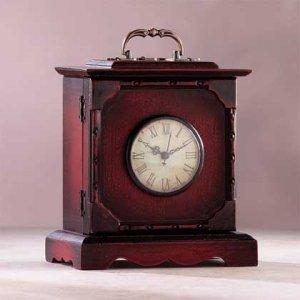 Antique Wooden Travel Clock Replica 31754