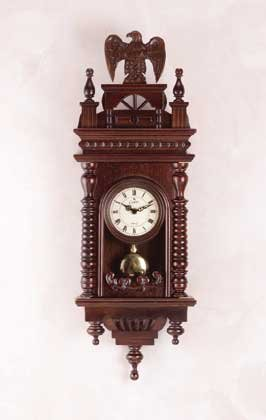 Carved Eagle Wall Clock 31673