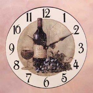 Wine And Grapes Wall Clock 34270