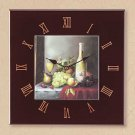 Wind And Grapes Tile Clock 34566