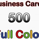500 Business Cards Full Color - Glossy - Free Design