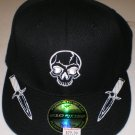 KREW Mens Skull Hat Fitted Blk sz: 71/4-75/8  NEW w/ Tags