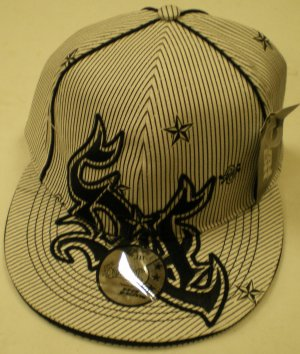 So Cal Logo Pinstripe Men's Hat Size: S/M NEW w/ Tags Wht/Blk