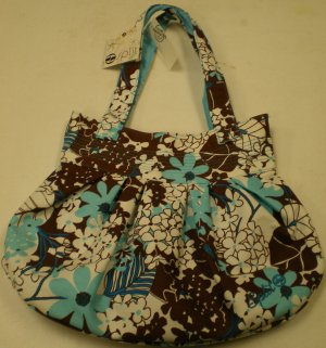 Spilt W Purse Bronw/Baby Blue NEW w/ Tags!