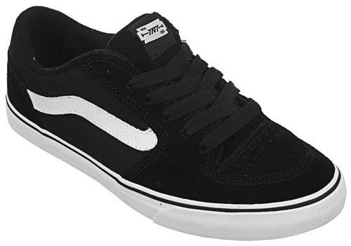 Vans TNT 4 Men's Shoes Black / White New In Box!