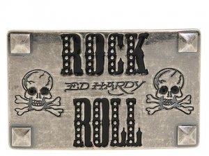 Ed Hardy Belt Buckle New! Rock & Roll EH6008D