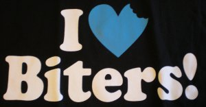 I Love Biters T-shirt New!