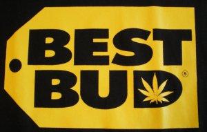 Best Bud BLack/Yellow T-shirt New!