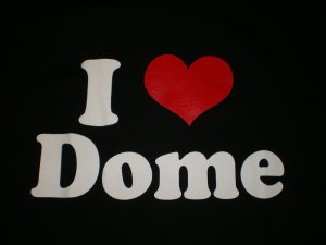 I Love Dome T-shirt Blk/Red New!