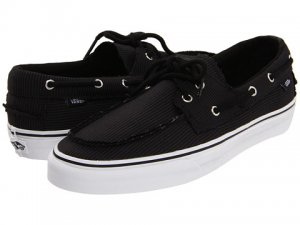 Vans Zapato Del Barco Tight Pinstripe Black New In Box! Size: 11
