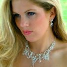 Couture Crystal Elegance Silver Bridal Jewelry Set!