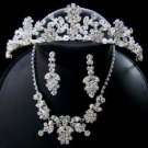 CRYSTAL & FRESHWATER PEARL WEDDING JEWELRY and Bridal  TIARA SET!