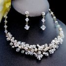NEW! Elegant Crystal Gold Plated Bridal Jewelry Set!