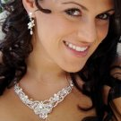 Sparkling Crystal and Freshwater Pearl Wedding Bridal Jewelry Set