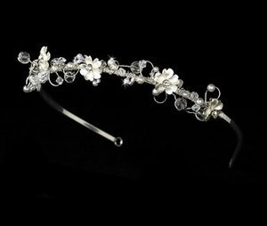 Silver Plated Floral Garden Bridal Wedding Headband