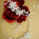 Swarovski Crystal Silver Plated Wedding Jewelry Set & Bridal Comb