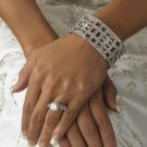 Vintage Look Crystal Encrusted Bridal Bracelet!