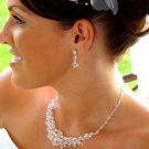 Elegant Bridal Wedding Jewelry Set with Swarovski Crystals