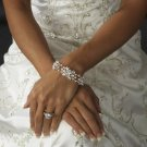 Enchanting Silver Plated Floral Bridal Wedding or Prom Bracelet