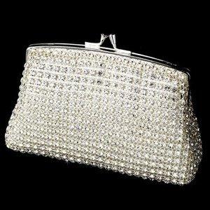 NEW Rhinestone Mesh Evening Bag Bridal Clutch Purse