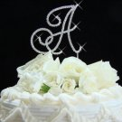 NWT Silver Plated Crystal Initial Wedding Cake Topper